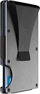 Slim Minimalist Front Pocket RFID Blocking Metal Wallets for Men with Money Clip