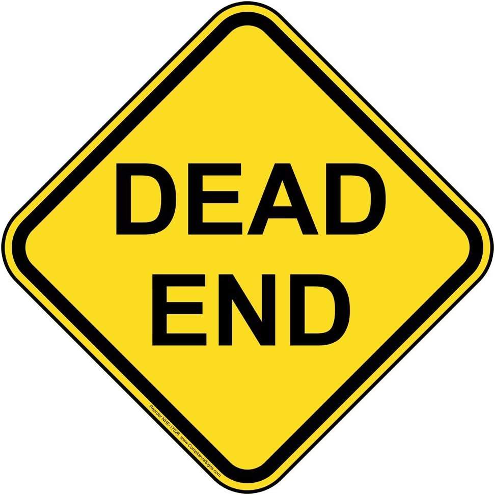 ComplianceSigns.com Dead End Reflective Sign, 12 inch with Cente