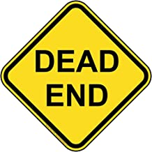 Dead End Reflective Sign, 12 inch with Center Holes on 80 mil Aluminum for Recreation Roadway by ComplianceSigns