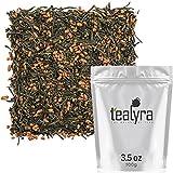 Tealyra - Gen Mai Cha Supreme - Japanese Loose Leaf Tea - Organically Grown - Genmaicha Green Tea with Brown Roasted Rice - Caffeine Level Low - 100g (3.5-ounce)
