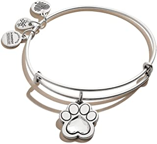 Alex and Ani Expandable Bangle for Women, Crystal Paw...