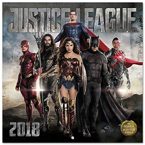Grupo Erik Editores Calendario 2018 30X30 Dc Comic Justice League