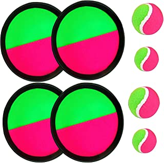 BoBofly Paddle Catch Ball and Toss Game Set Disc Toss and Catch Paddle Sport Game