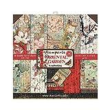 STAMPERIA Oriental Garden-Bloc de Papel (10 Hojas, 20,3 x 20,3 x 8 Pulgadas, Doble Cara), multicolor, 20.3 x 20.3 (8' x 8')