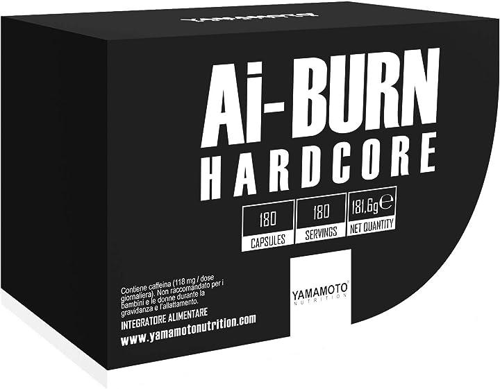 Bruciagrassi yamamoto nutrition ai-burn hardcore 180 capsule - 260 gr P37374