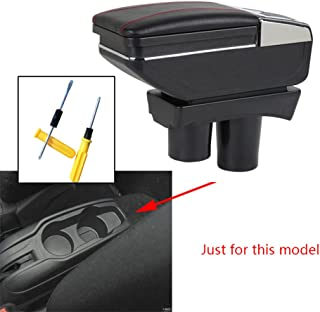 8X-SPEED for 2012-2016 Citroen c-Elysee/PG 301 Car Armrest Center Console Accessories Arm Rest Black