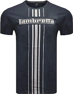Lambretta Shirts Crew Neck Tee Short Sleeve Prints UK S - 4XL