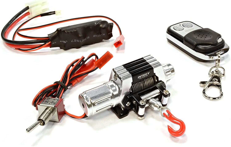 Integy RC Model Hopups C25875SILVER T10 Realistic High Torque Mega Winch w  Remote for Scale Rock Crawler 1 10 Size