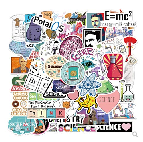 ZJJHX Tesla Laboratory Physical Chemistry Graffiti Car Sticker Scooter Laptop Helmet Sticker 50 Sheets