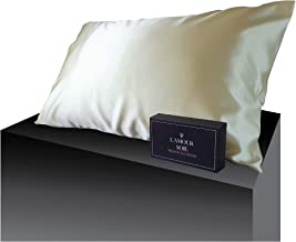 100% Mulberry Silk Pillowcase-Champagne, Perfect for Hair and Skin, Prevent Wrinkles, Kind to Skin, Natural, Hypoallergeni...
