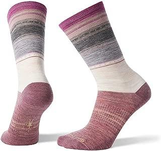 Smartwool Sulawesi Stripe Crew Socks - Women's Ultra Light Cushioned Merino Wool Performance Socks