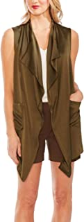 Vince Camuto Women's Satin Draped Open-Front Vest