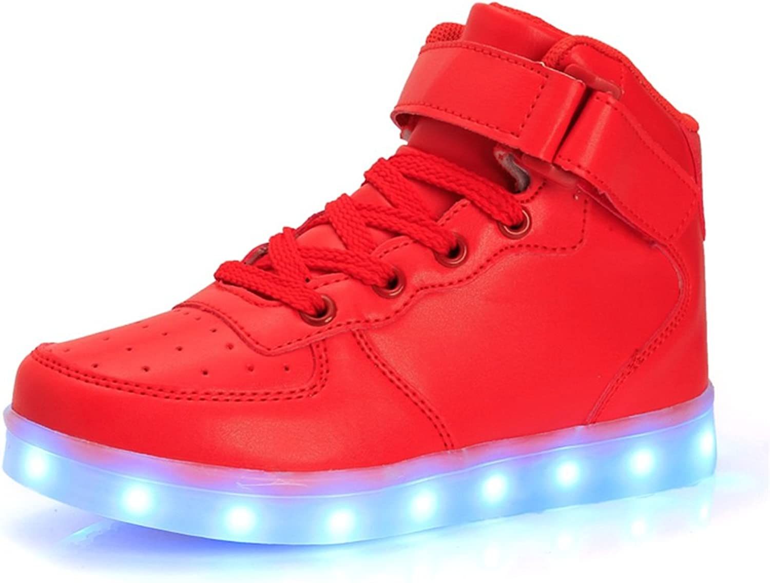 Lights up Sneakes LED shoes Flashing High Top shoes USB Charging 7 colors Flashing Sneakers for Kids Boys Girls