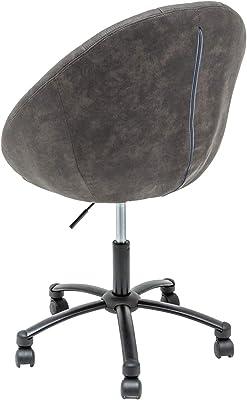 DuNord Design - Silla de Oficina, diseño Retro, Color Gris y Negro