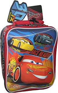 Cars 3 Soft Insulated Lunch Box with Lightning McQueen, Cruz Ramirez and Jackson Storm 3D Picture
