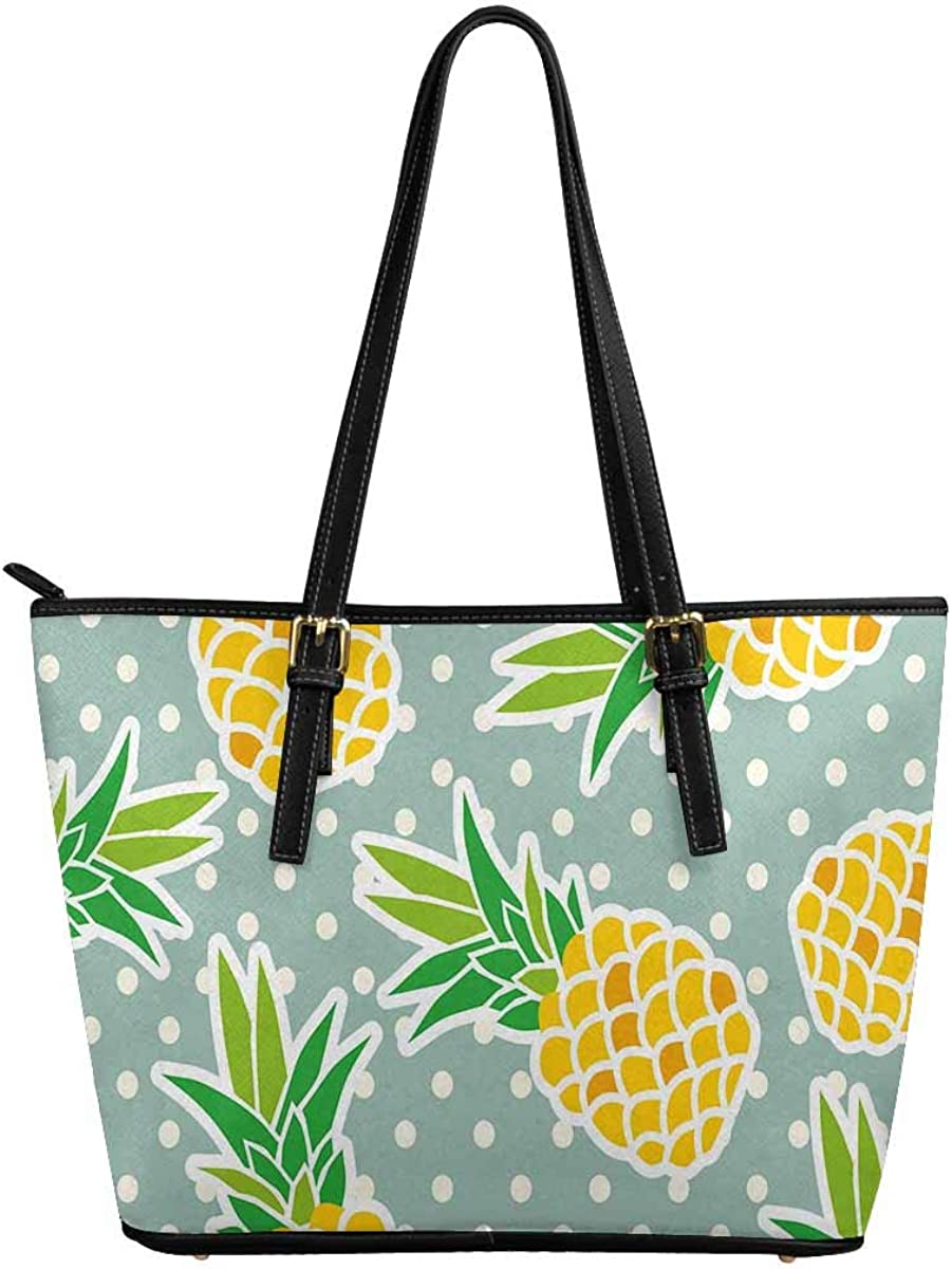 Sales INTERESTPRINT Exotic Pineapples Fruits HandBa NEW before selling Top Satchel Handle