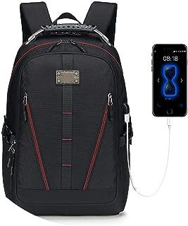 USB Charging Backpack Men Large Capacity Multifunction Teenager Waterproof Oxford Travel Laptop Backpacks for Women Men Bag,Red,33X20X50Cm