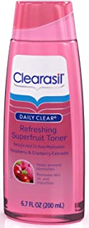 Clearasil Daily Clear Refreshing Superfruit Acne Toner, 6.7 Ounce, 3 Pack