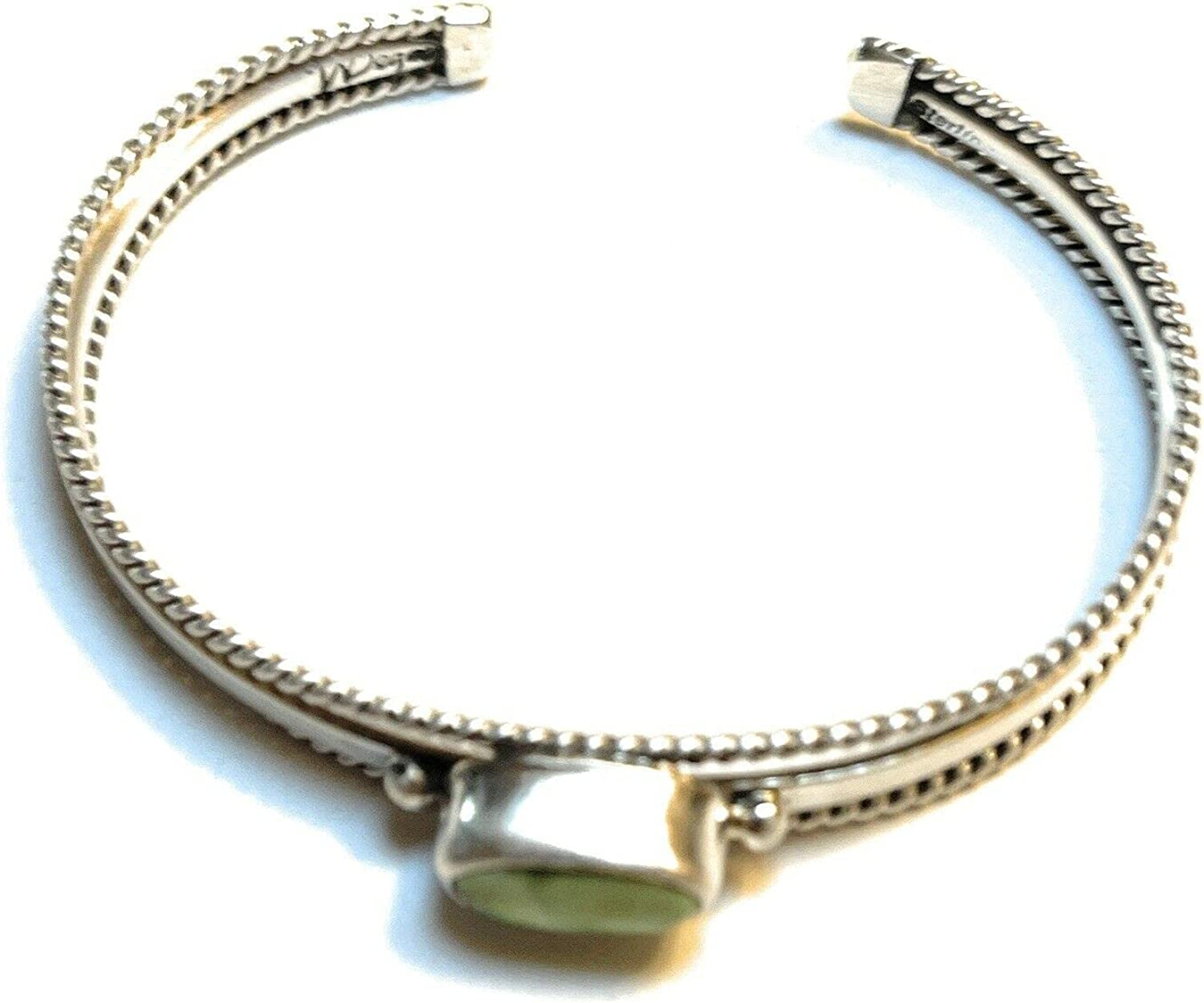Nizhoni Traders LLC Navajo favorite Green Turquoise Stack Silver Sterling OFFicial store