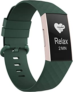 Adepoy Compatible with Fitbit Charge 3 Bands, Soft Silicone Replacement Wristbands Compatible for Fitbit Charge 3 / Charge...