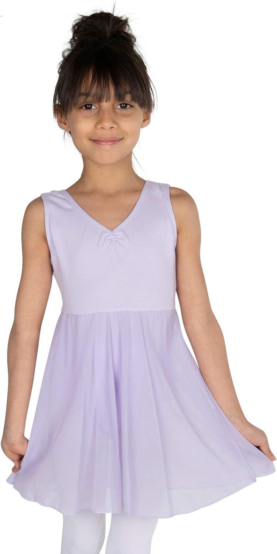 STARFLOWER Toddler Girls' Tank Leotard Dress - Tutu Dance, Gymnastic, Ballet, Valentines.