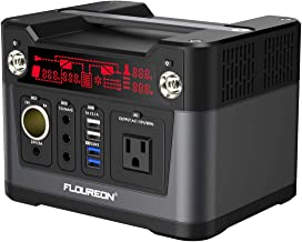 Floureon Portable Power Station, Solar Generator Updated 280Wh CPAP Backup Battery Pack with LED Flashlight, QC3.0 110V/300W Power Source Inverter with AC Outlet for Outdoors Camping Travel Emergency