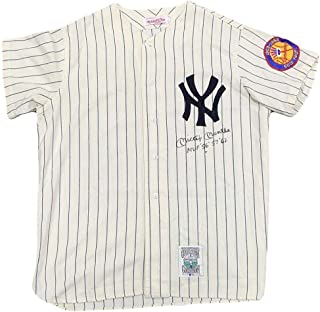 mickey mantle signed jersey value