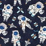 Astronaut Space Stoff–0,5m Vielfache (50cm x