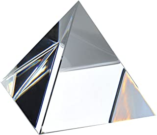 Amlong Crystal Clear Crystal Pyramid 3 inch with Gift Box