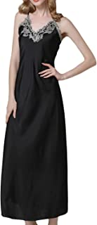 Women's Nightdress Lace Satin Nightgowns Long Chemise Sleepwear