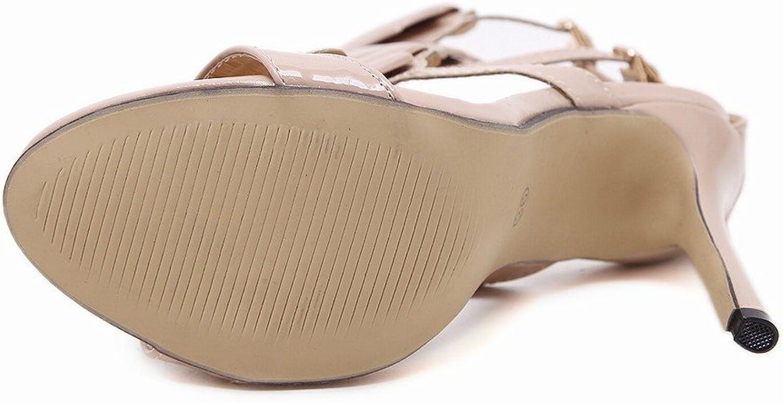 DHG Metallische Sandalen der Hohen Absatzfrauen,Ein,36 B07FPDB6Y7  Online-Exportgeschäft
