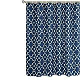 Biscaynebay Duschvorhang, strukturierter Stoff, marokkanische Perle, bedruckt, Badezimmer, indigo, 183 x 183 cm
