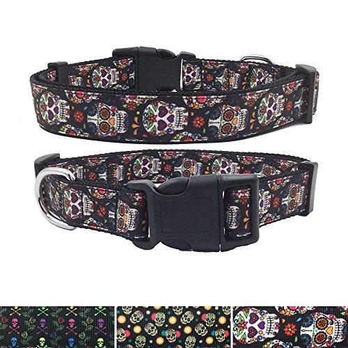 AIDIYA Collar para perro Ajustable Cómodo para Perros Pequeños Medianos o Grandes (blanco, L)