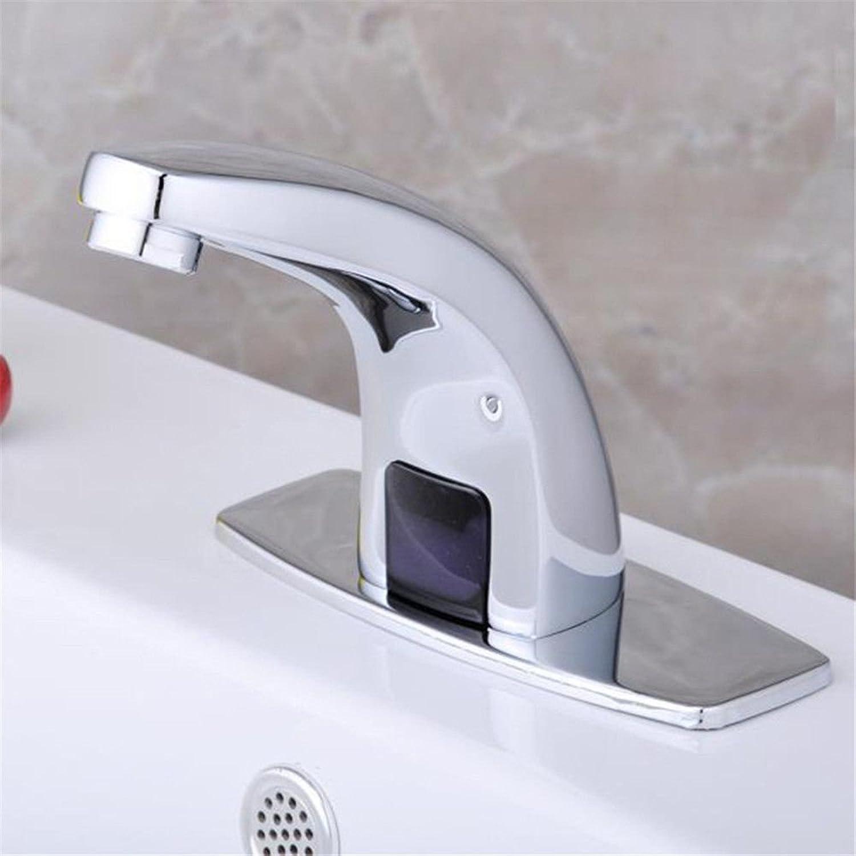AQMMi Bathroom Sink Faucet Basin Mixer Tap Brass Single Cold Sensor Basin Sink Tap Bathroom Bar Faucet