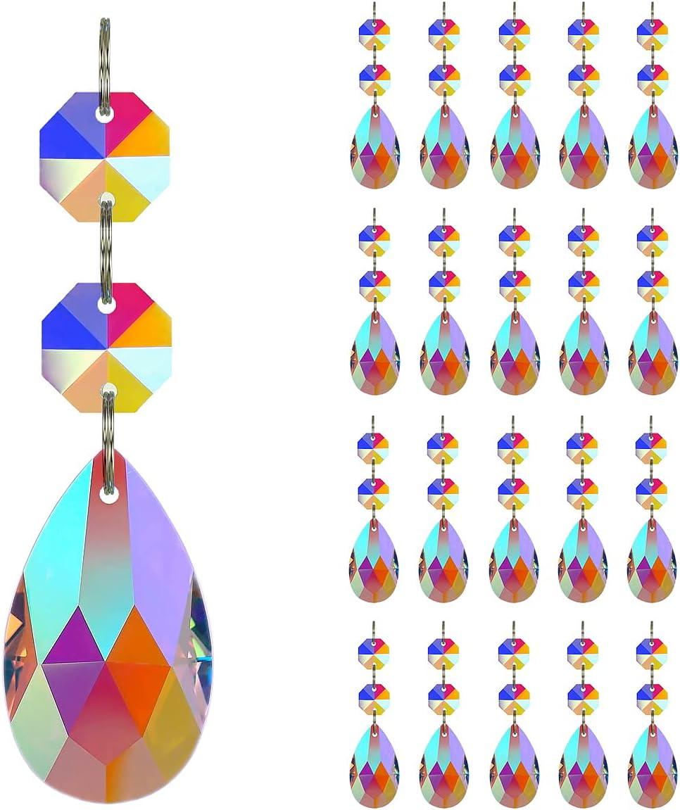 GOLDENHAITAI Discount mail order 20pcs Soldering Teardrop Chandelier Crystal Accessor Lighting