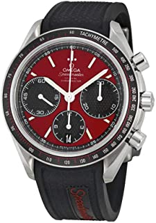 Omega Speedmaster Racing Automatic Chronograph Red Dial Stainless Steel Mens Watch 32632405011001
