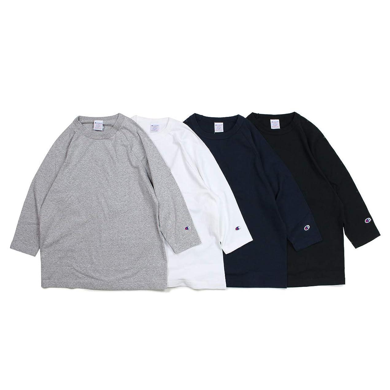 嘆くブートエスカレートチャンピオン Champion T1011 RAGLAN 3/4 SLEEVE T-SHIRT Tシャツ ラグラン 七分袖 ブラック ホワイト グレー ネイビー 黒 白 C5-P404 ユニセックス (並行輸入品)