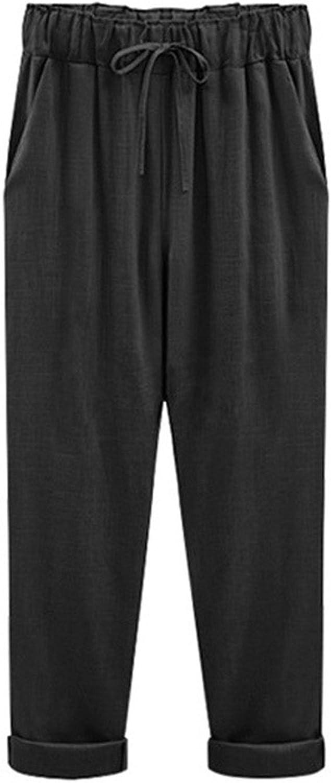 Reedbler Cosy;Fashion New Spring Autumn New Pants Women's Cotton Linen Pants Casual Plus Size M6XL Fat mm Loose Flax Pants