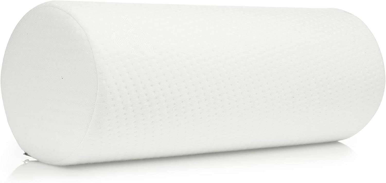 Large Bamboo Cervical Neck Support Pillow, Memory Foam Bolster Pillow for Sleeping, Roll Pillow for Neck, Back & Shoulder Pain Relief, 17 in Length x 6 in | Removable Washable Cover: Kitchen & Dining