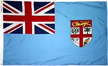 product image for Annin Flagmakers Model 192570 Fiji Flag 3x5 ft. Nylon SolarGuard Nyl-Glo 100% Made in USA to Official United Nations Design Specifications.