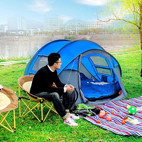 ZHJLOP Tente Tente de Camping Ultra-légère Imperméable 3-4 Personnes Tente Tunnel à Double Couche Tente de randonnée en Plein air Escalade Grand Espace Tentes de Plage