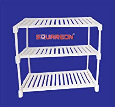SQUAREON INDUSTRIES 3 Tier Shoe Rack Stand (White)