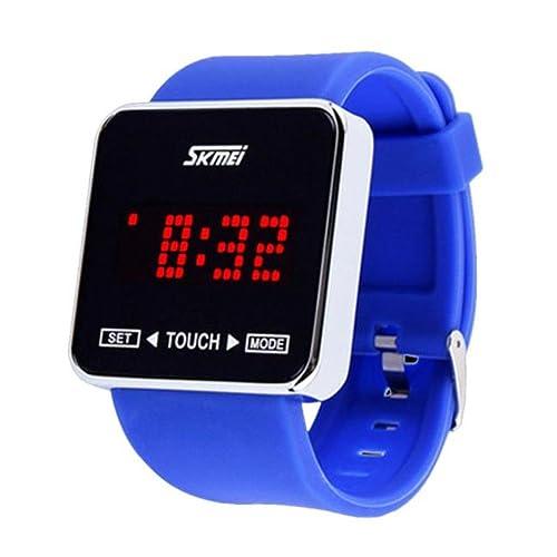 BEUU Touch Screen Led Watch Digital Boys Girls Sport Wrist Watche Men Women Watches for Waterproof