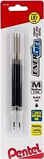 Pentel Refill Ink For EnerGel and Lancelot Gel Pen, (0.7mm), Metal Tip, Black Ink, 2 Pack (LR7BP2A)
