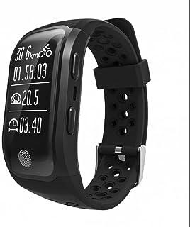 Pulsera Inteligente con Pulsómetro,Pulsera Reloj Inteligente con Podómetro Inteligente,Sueño,Notificación de SMS,Control Cámara Pulsera Bluetooth Móvil Compatible con iOS y Android con APP