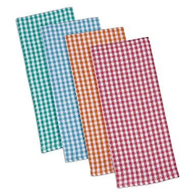DII Cotton Heavyweight Plaid Dish Towels Kitchen Gift, 18 x 28  Set of 4, Drying and Cleaning Kitchen Towels for Everyday Cooking and Baking-Summer Check