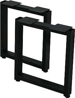 サンニード テーブル 脚 パーツ レッグスクエアS SLG2S 2本1組 奥行36 高さ40 cm アイアン ブラック 黒