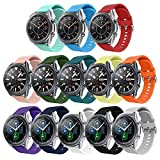 Replacement Band Compatible for Samsung Galaxy Watch 46mm/Gear S3 Frontier/Classic,13 Pack 22mm Watch Bands Soft Silicone Sport Watch Strap Wristband for Samsung Galaxy Watch 3 45mm for Women Men