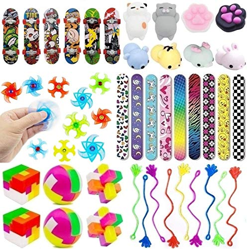 Fun Party Favor Toy Assortment 48 Pack, Party Favors for Kids, Bulk Toys, Birthday Party Toys, Carnival Prizes, Pinata Candy and Toys Filler, Treasure Box Prize, Goodie Bag Fillers, Classroom Rewards