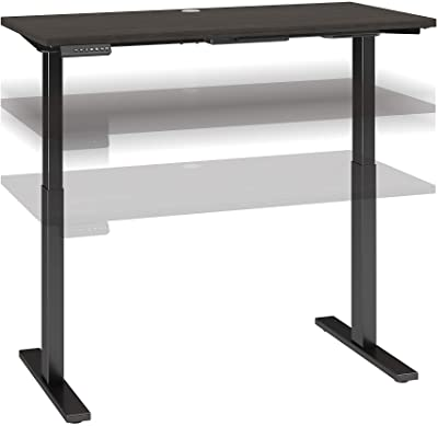 Bush Business Furniture Move 60 Series Height Adjustable Standing Desk, 48W x 24D, Storm Gray with Black Base